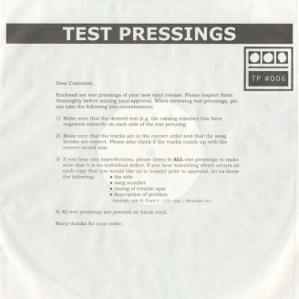 Album artwork for Testpressing#006