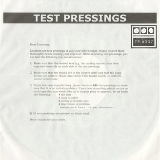 Album artwork for Testpressing#007: Rathe / Patchwork