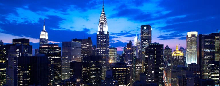 The stunning Manhattan skyline view from your room