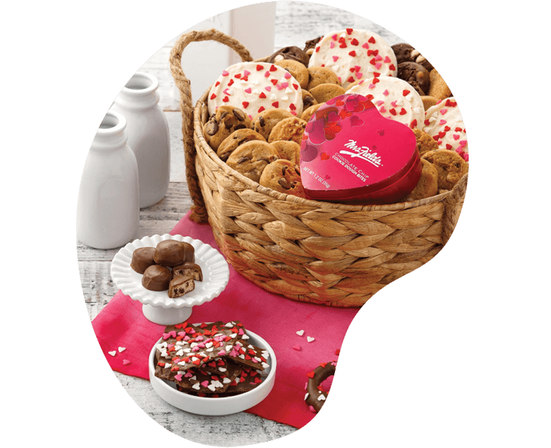 Valentines day photography for Mrs. Fields cookies marketing campaign