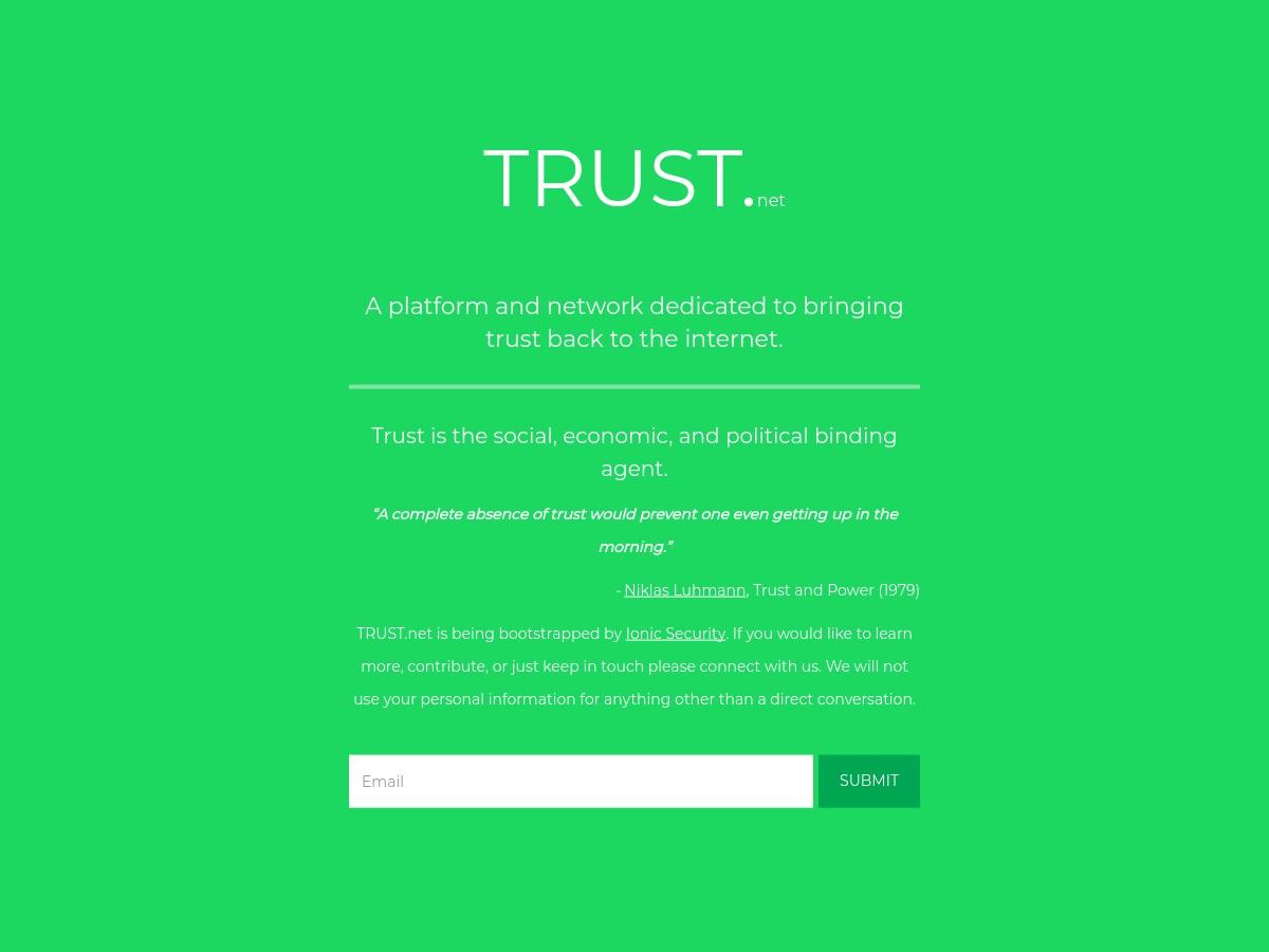 (c) Trust.net