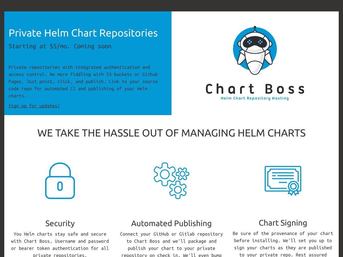 Private Helm Chart Repositories | Chart Boss