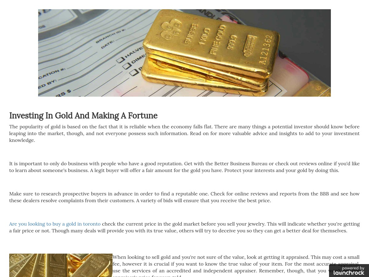 Are You Looking To Buy A Gold In Toronto