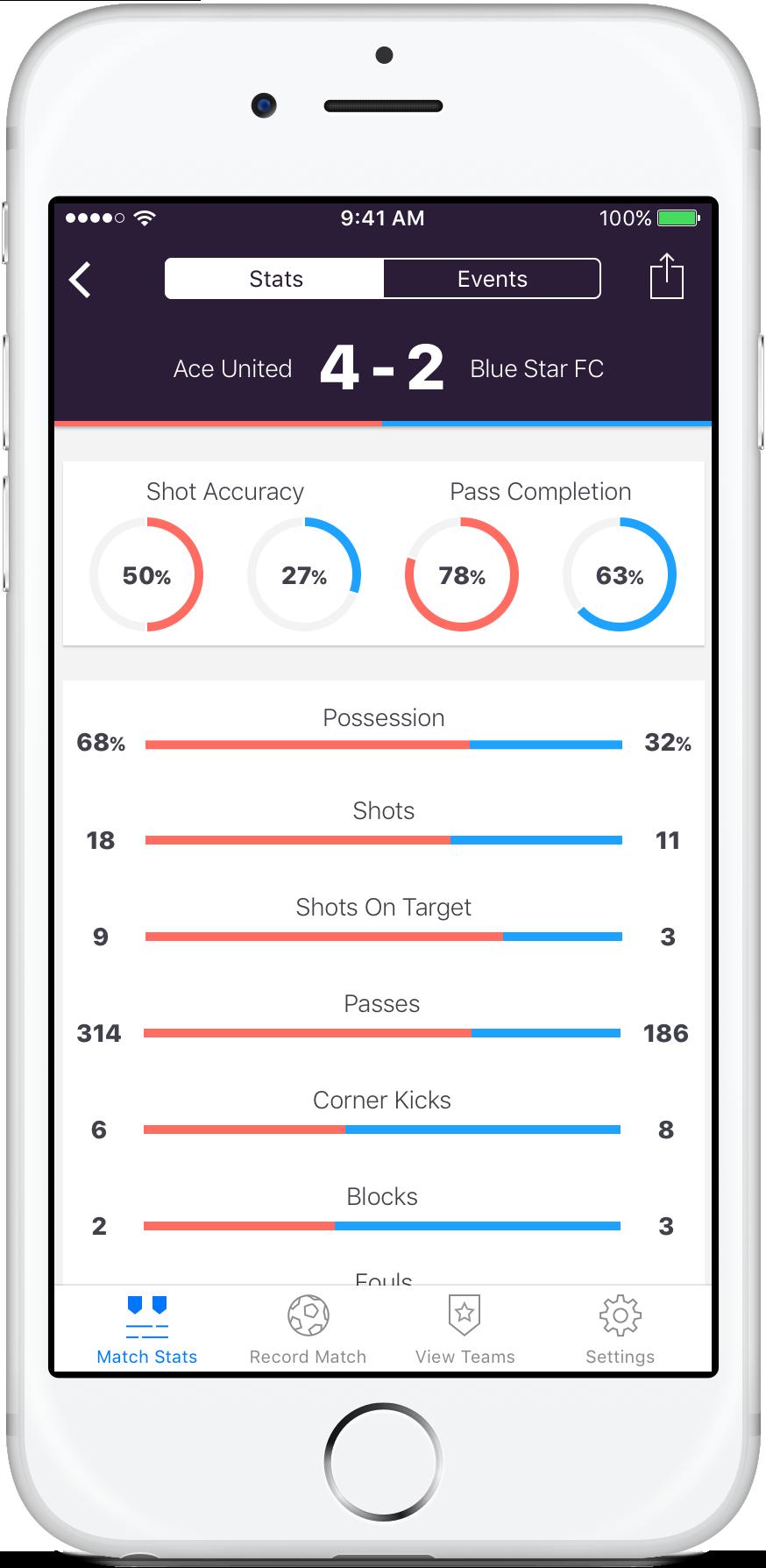 Stat Captain | Soccer Team Stat Tracking App for Coaches