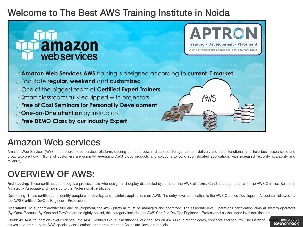 AWS Training in Noida