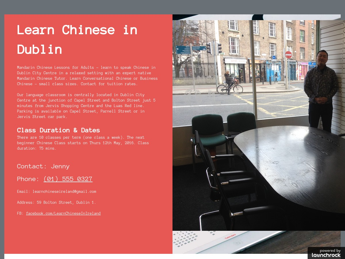 Learn Chinese in Dublin