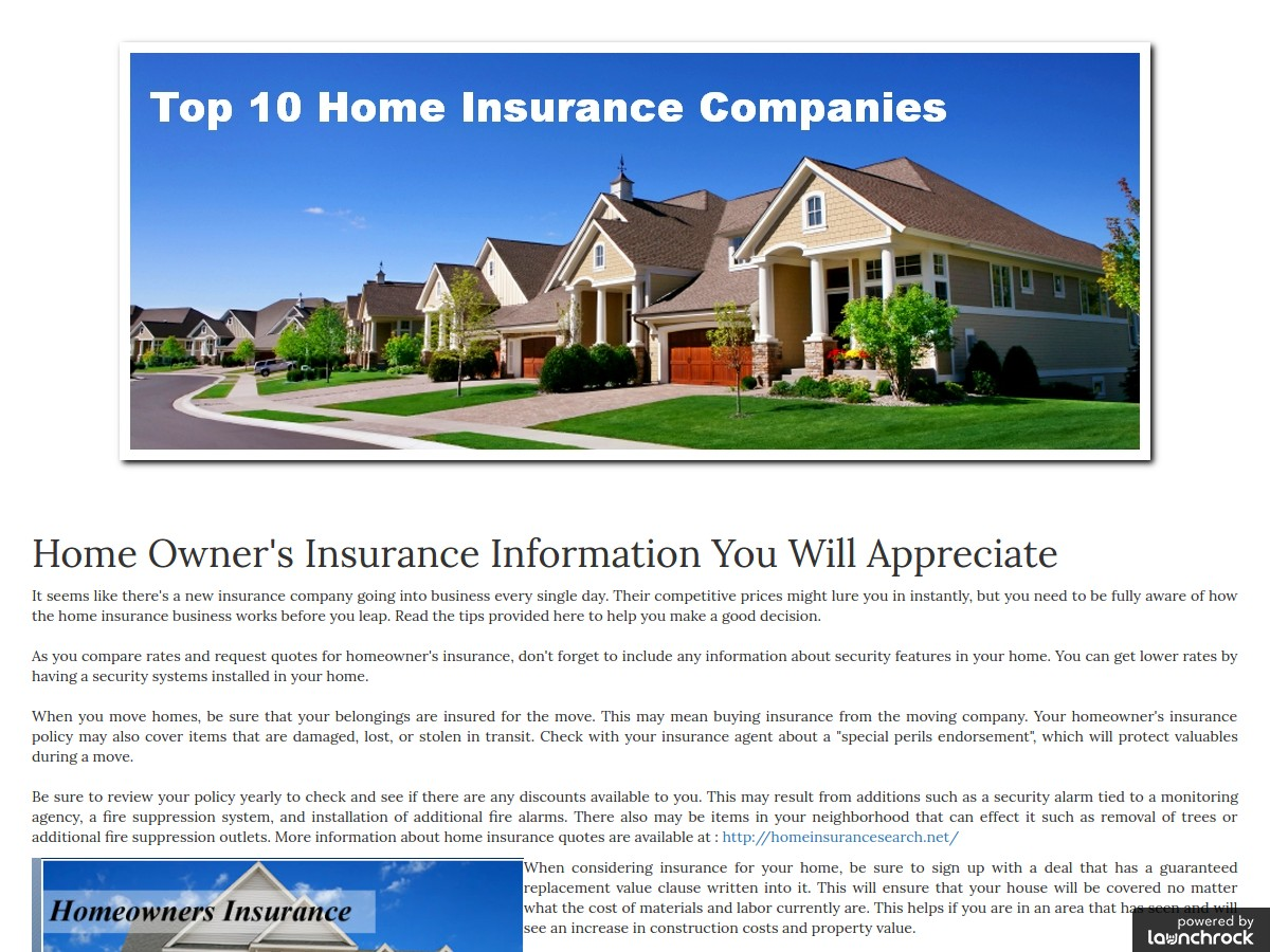 Need To Know About Home Owner\'s Insurance