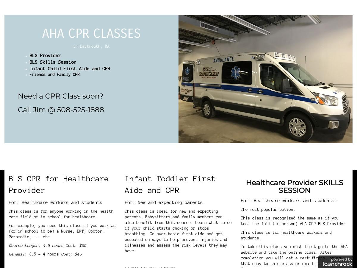 Aha Cpr Classes Bls Provider Courses Southcoast Ems