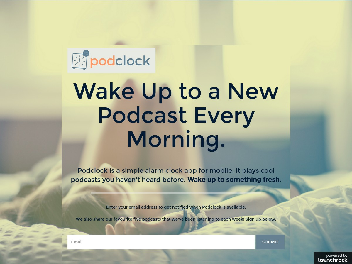 Podclock - Get a new podcast as your alarm every morning