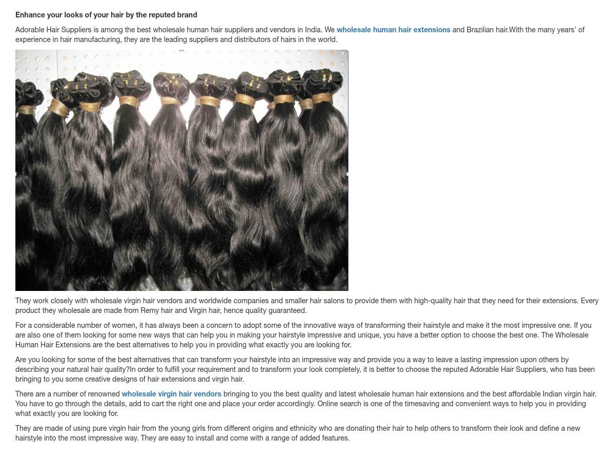 wholesale virgin hair vendors