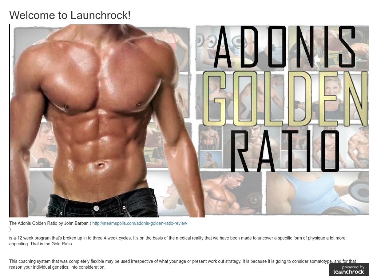 adonis golden ratio video