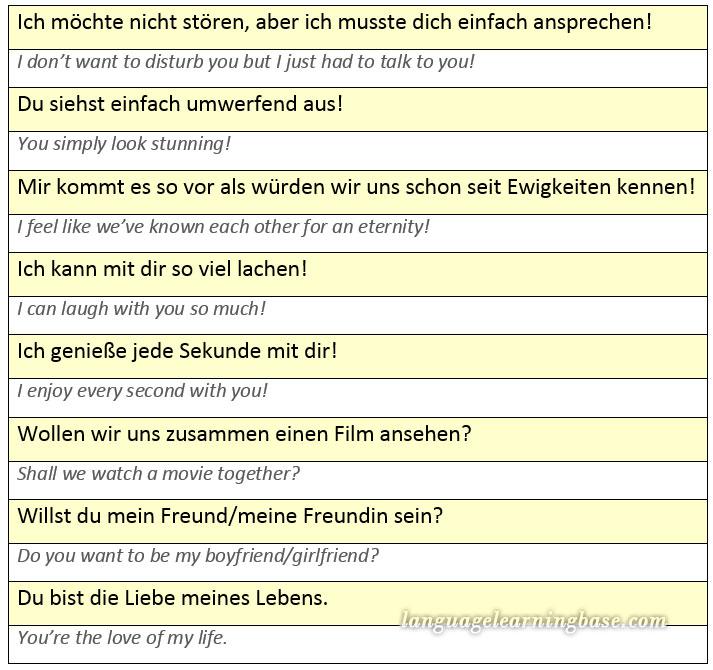 easy german flirten