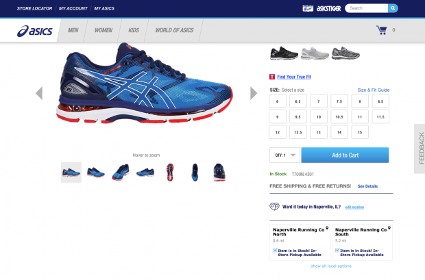 4d27da831a1 Load any product page on ASICS  site
