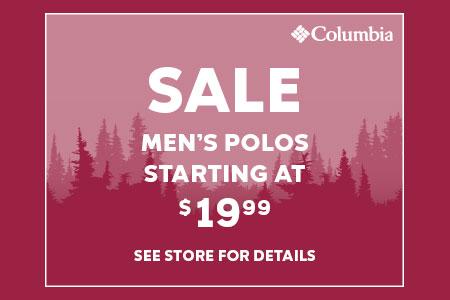 Men's Polos starting at $19.99