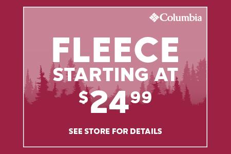 Fleece starting at $24.99