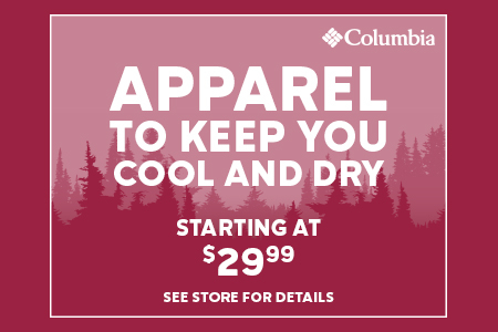 Apparel to keep you cool and dry starting at $29.99