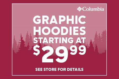 Graphic Hoodies starting at $29.99