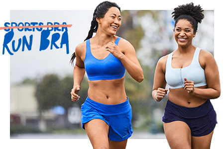 Try on Brooks run bras with a fit expert