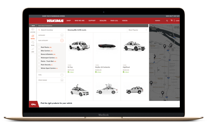 Broadcast your inventory on brand site Dealer Locators