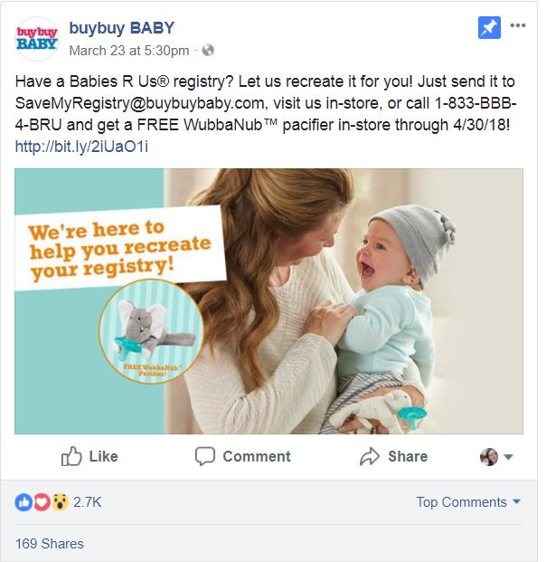 Buy Buy Baby registry offer