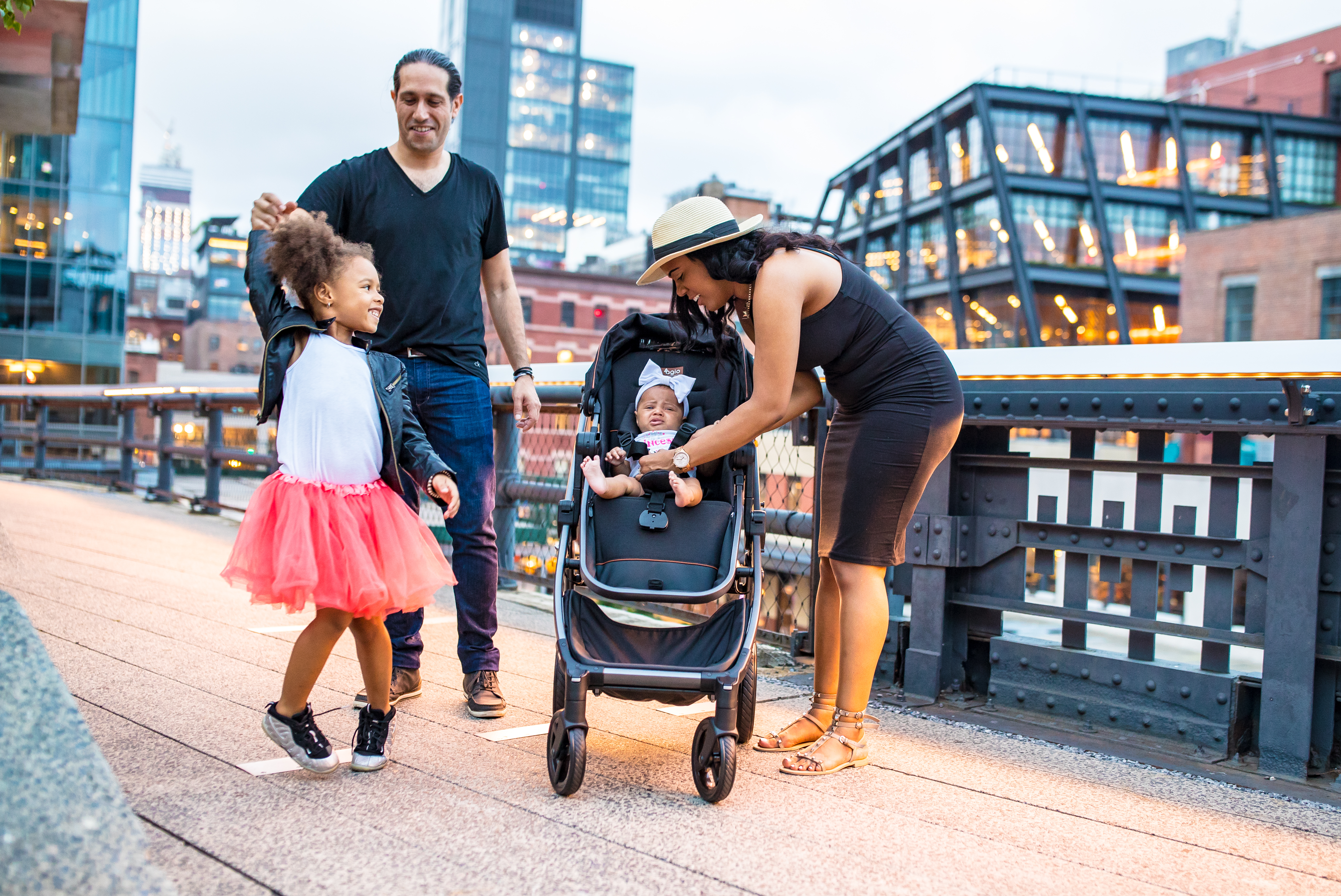 Family with Agio Z4 Stroller
