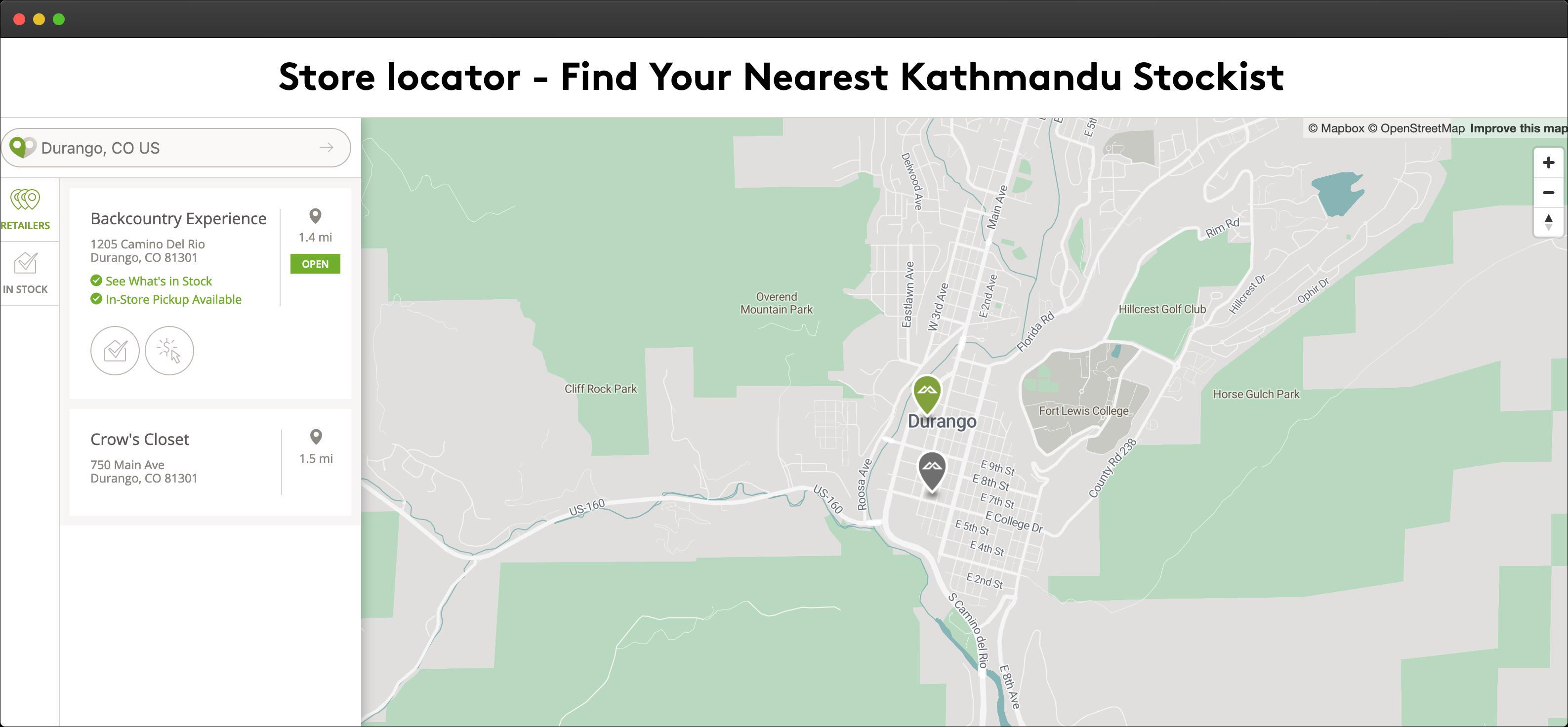 Kathmandu Store Locator