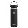 Black  - Hydro Flask - 20 Oz Wide Mouth