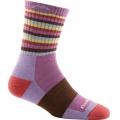 Plum Stripe - Darn Tough - Women's Stripes Micro Crew Sock Cushion
