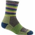 Lime Stripe - Darn Tough - Women's Stripes Micro Crew Sock Cushion