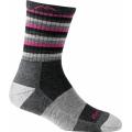 Hot Pink Stripe - Darn Tough - Women's Stripes Micro Crew Sock Cushion