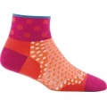 Coral - Darn Tough - Women's Dot 1/4 Ultra-Light