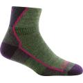 Moss Heather - Darn Tough - Women's Hiker 1/4 Sock Cushion