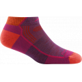 Plum Heather - Darn Tough - Women's Hiker No Show Lightweight with Cushion