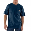 Navy - Carhartt - Men's Workwear Pkt SS TShrt MW Jersey Org Fit