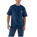 Dark Cobalt Blue Heather - Carhartt - Men's Workwear Pkt SS TShrt MW Jersey Org Fit