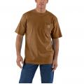 Oiled Walnut Heather - Carhartt - Men's Workwear Pkt SS TShrt MW Jersey Org Fit