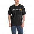 Black - Carhartt - Men's Signature Logo SS MW Jersey TShrt Gphc