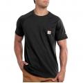 Black - Carhartt - Men's Force Cotton Delmont SS T Shirt Rlxd Fit