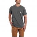 Carbon Heather - Carhartt - Men's Force Cotton Delmont SS T Shirt Rlxd Fit