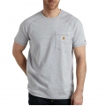 Heather Gray - Carhartt - Men's Force Cotton Delmont SS T Shirt Rlxd Fit