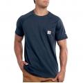 Navy - Carhartt - Men's Force Cotton Delmont SS T Shirt Rlxd Fit