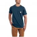 Light Huron Heather - Carhartt - Men's Force Cotton Delmont SS T Shirt Rlxd Fit