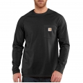Black - Carhartt - Force® Cotton Delmont Long-Sleeve T-Shirt