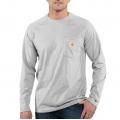 Heather Gray - Carhartt - Force® Cotton Delmont Long-Sleeve T-Shirt
