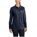 Dark Navy - Carhartt - Women's FR Force Cotton Hybrid Shirt