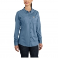 Medium Blue - Carhartt - Women's FR Force Cotton Hybrid Shirt