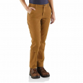 Carhartt Brown - Carhartt - W Straight Fit Stretch Twill Pant