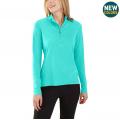 Blue Turquoise Heather - Carhartt - Women's Force Delmont Quarter Zip Shirt