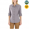 Gull Gray - Carhartt - Women's Rugged Flex Bozeman Shirt