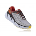 Grey / Orange Flash - HOKA ONE ONE - Men's Clifton 3